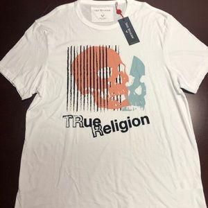 True Religion white skull Tshirt 2XL